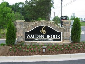Atlanta Outdoor Signs & Exterior Signs custom stone monument sign front entrace apartment sign 300x225